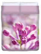 Purple Spring Lilac Flowers Blooming Close-up Duvet Cover