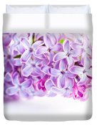 Purple Spring Lilac Flowers Blooming Duvet Cover