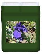 Purple Springtime Iris  Duvet Cover