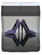Purple Stiletto Shoes Duvet Cover