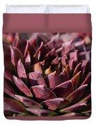 Purple Succulent Duvet Cover