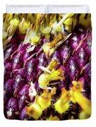 Purple Sunflower Seeds Duvet Cover