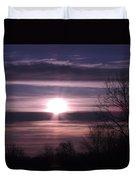 Purple Sunrise Duvet Cover
