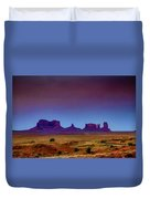Purple Sunset In Monument Valley Duvet Cover