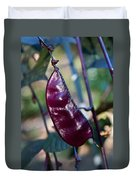 Purple Sweet Pea Pod Duvet Cover