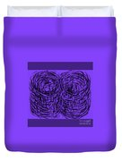 Purple Swirls Duvet Cover