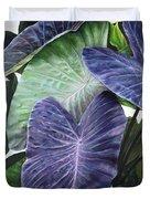 Purple Taro Duvet Cover