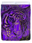 Purple Tiger Duvet Cover