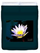 Purple Tipped Water Lily Duvet Cover
