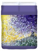 Purple Tree And The Afternoon Sun Duvet Cover