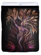 Purple Tree Goddess Duvet Cover