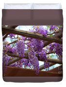 Purple Trellis Duvet Cover