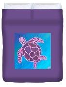 Purple Turtle Duvet Cover