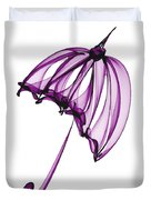 Purple Umbrella Duvet Cover