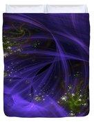 Purple Universe Duvet Cover