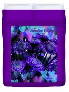 Purple  Valentine Duvet Cover
