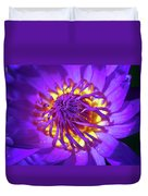 Purple Water Lily Macro Duvet Cover