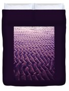 Purple Waves Of Sand Duvet Cover
