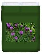 Purple Wildflowers Duvet Cover