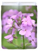 Purple Wildflowers Two Duvet Cover