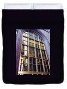 Chicago Golden Purple Window Panes Duvet Cover