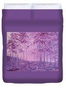 Purple Woods Duvet Cover