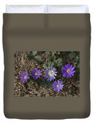 Purple Yard Flowers Duvet Cover