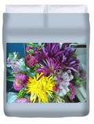 Purple Yellow Flower Mix Duvet Cover