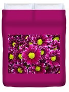 Purple Yellow Flowers Duvet Cover