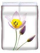 Purple Yellow Tulip 2 Duvet Cover