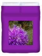 Purple Zinnia Duvet Cover by Rod Sterling