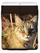 Purr-fect Kitty Cat Friend Duvet Cover