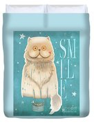 Purr, Smile Cat Duvet Cover