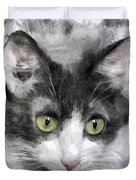A Cat With Green Eyes Duvet Cover