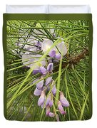 Pushing Though Or Wisteria And Long Needle Pine Duvet Cover