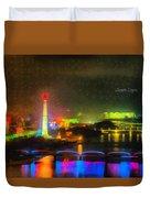 Pyongyang Night Scene Duvet Cover