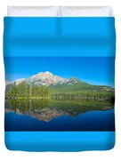 Pyramid Island In The Pyramid Lake Duvet Cover