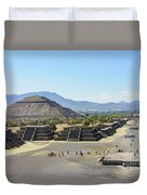 Pyramid Of The Sun And Avenue Of The Dead Duvet Cover