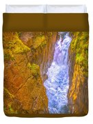 Pyrenees Spanish Bridge Waterfall Duvet Cover