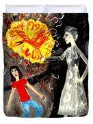 Pyro The Firebird Duvet Cover by Sushila Burgess