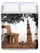 Qtub Minar, New Delhi India Duvet Cover