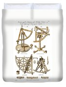 Quadrants And Sextant, 1790 Duvet Cover