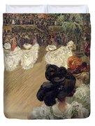 Quadrille At The Bal Tabarin Duvet Cover by Abel-Truchet