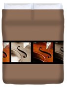 Quadriptych Of Musical Curves Duvet Cover
