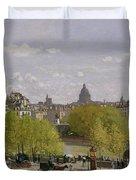 Quai Du Louvre In Paris Duvet Cover