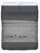 Quail Lines Duvet Cover
