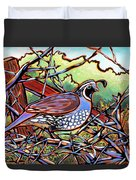 Quail Duvet Cover by Nadi Spencer