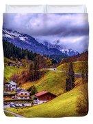 Quaint Bavarian Village Duvet Cover
