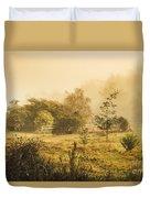 Quaint Countryside Scene Of Glen Huon Duvet Cover