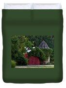 Quaint Red Barn  Duvet Cover